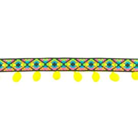 bolletjesband ibiza | geel