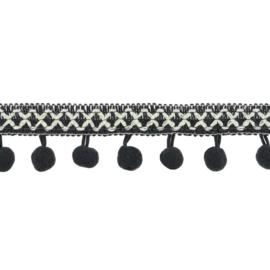 Bolletjesband | Cross - Donkergrijs  31619