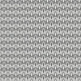 Katoen print | Feels like spring | Dark Grey