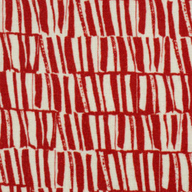 Viscose - Linnen | Swafing - Silas - Red  - White