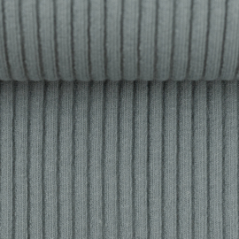Swafing Boordstof - Brede Rib - Heiko  -  GreyBlue