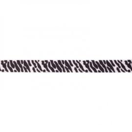 41949 elastisch biaisband zebra 15mm