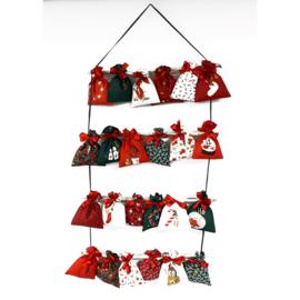 Poplin Christmas -  advent calendar -  1 panel