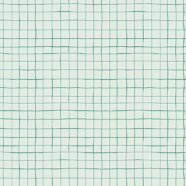 katoen print   ruit wit - groen   rico - design