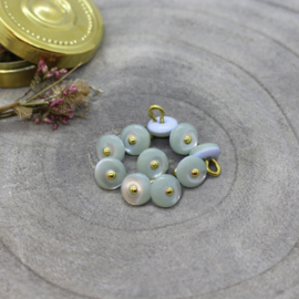 Atelier Brunette  Buttons |  Jewel - Sage  9 mm
