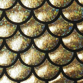 Foil Fabric | Mermaid - Gold