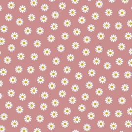 Katoen Poplin | Daisy Flower - Pink