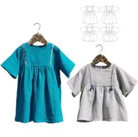 Ikatee Pattern   Sakura - Blouse & Dress - Girl 3/12