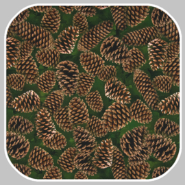 tricot | digitale print | dennenappel