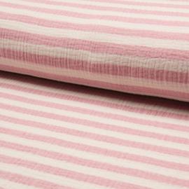 Double Gauze | Bambino Stripe | Roze