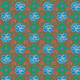 Katoen Poplin Print | Blue Flowers