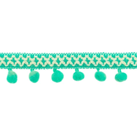 Bolletjesband | Cross - Mint  31615