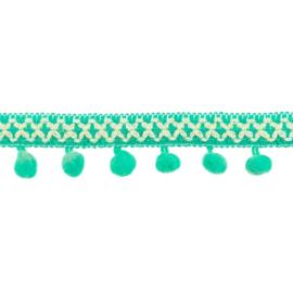 Bolletjesband | Cross - Mint  31615