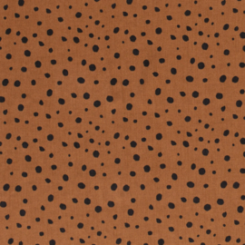 Tencel - Lyocell | Dots - Rust