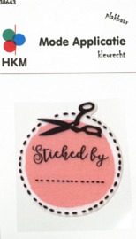Strijkapplicatie | Stitched by ........  - Pink 38643