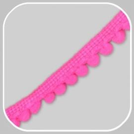 minibolletjesband fluor roze