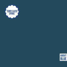 About Blue Fabrics | Badstof - Sponge  UNI 16 Blue Wing Teal
