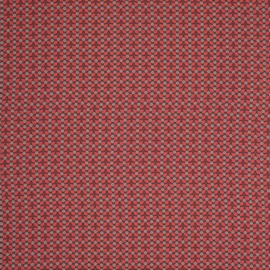 Viscose | Tagas - Swafing | Leaves - Grijs - Rood