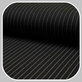 jersey pin stripe | WI9714-069 | zwart