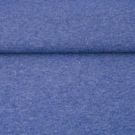 tricot boordstof melange | jeansblauw