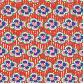 Katoen print | Fiona Hewitt | Fabulous Flowers - Red