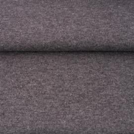 tricot boordstof melange | middengrijs