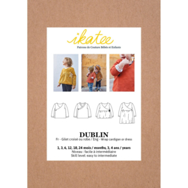 IKATEE   Dublin  Cardigan or Dress - Baby 1M/4Y - Paper Sewing Pattern