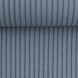 Swafing Boordstof - Brede Rib - Heiko  -  Blue