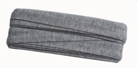 tricot biaisband | grijs gemeleerd | col. 065