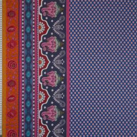 woven viscose | lotus Ganesh | blue | by Jolijou | Swafing