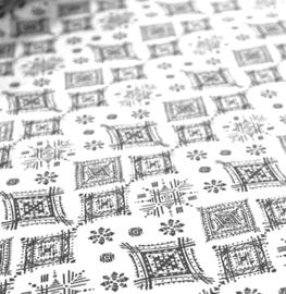 deco  print  | oker |  Ruitfantasie - Wit