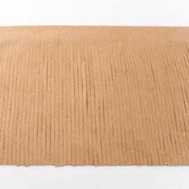 Suedine franjeband | Zand 28005 | 12cm breed
