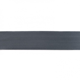 elastiek uni | 4 cm |  grijs-donker