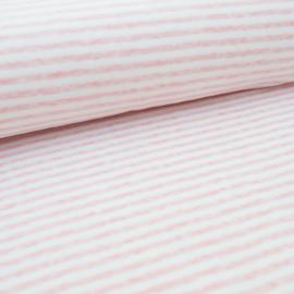 Nicky velours - Stripe  | White - Pink