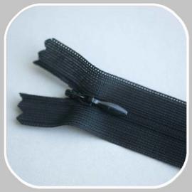 blinde rits (zwart)  -22 of 60 cm