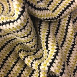 Modal Cotton Stripes | Black  - Lime