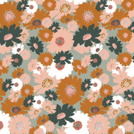 Soft  Sweat GOTS | Big Flowers - Light Mint