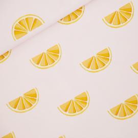 See You at Six | Oranges -  Katoen Canvas Gabardine Twill - Sleutelbloem Roze