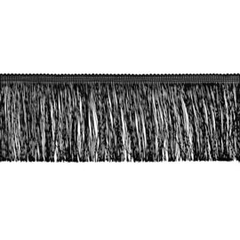 Franjeband | 10 cm | Zwart - 32863
