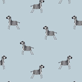 Tricot Print | Zebra - Blue
