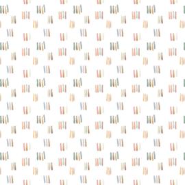 Jersey GOTS | Digital Watercolour - Stripes - Off White