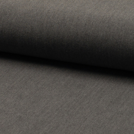 Wool touch  | two way stretch | Mid Grey Melange