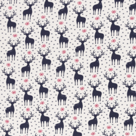 Swafing French Terry - Christmas Deer  - Navy