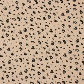 Double Gauze |  Leopard -  Soft Pink