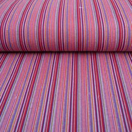 Decostof |  Mexicaans multicolor rood - lila streep