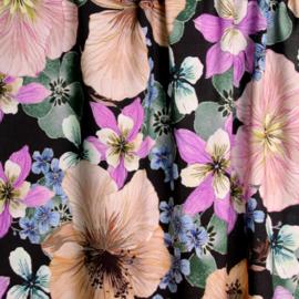 Atelier Jupe | Flower Large  | Large Soft Coloured Flowers   -  Viscose