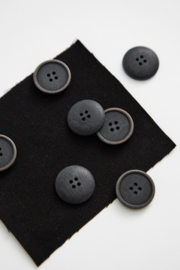 Mind the Maker | Blaze Corozo Button - 20 mm - Black