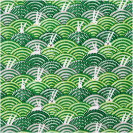 Rico Design | Double Gauze | Haasjes in groen veld