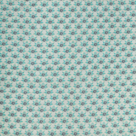 woven viscose | flowers - small - mint | Swafing