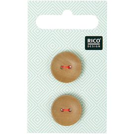 Rico Design | Houten Knoopjes - 2 stuks - 1,8 cm